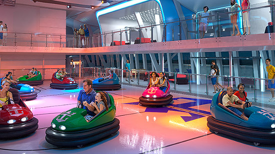 Bumper Cars on Ovation of of the Seas